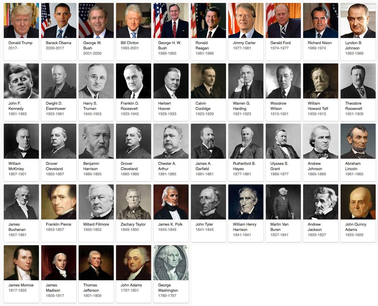 us amerikanische präsidenten
